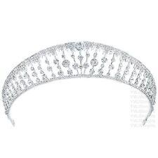 TQB96 Holy White Clear Rhinestone Crystal Alloy Tiara Bridal Wedding Crown