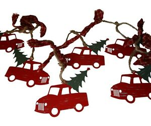 Christmas Red Truck with Tree Banner