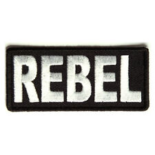 Embroidered Rebel Sew or Iron on Patch Biker Patch