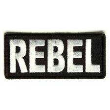 Embroidered Rebel Iron on Sew on Biker Patch Badge