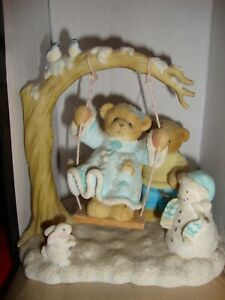 """VINTAGE CHERISHED TEDDIES 2004 - RANDY AND JILL """"ALWAYS SNOW MUCH FUN WITH YOU"""""""
