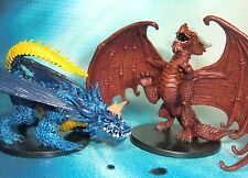 Dungeons & Dragons Miniatures  Stormrage Blue Dragon Red Dragon !!  s116