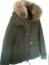 100% Authentic Woolrich Scarlet Eskimo 2 in 1 Jacket Raccoon Fur Suit uk 8-10 £5