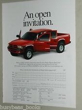 2000 Dodge 2-page ad, Dodge Ram Quad Cab pickup truck