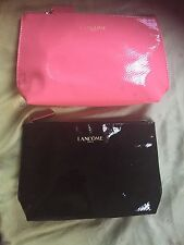 2 Lancome Cosmetic Bag Pink And Black Make Up Case