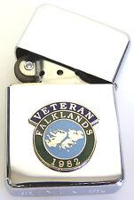 FALKLANDS ISLANDS WAR 1982 SCROLL VETERANS  WINDPROOF CHROME PLATED LIGHTER