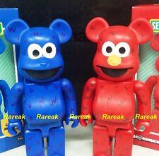 Medicom Be@rbrick Sesame Street 400% Elmo & Cookie Monster Bearbrick 2pcs