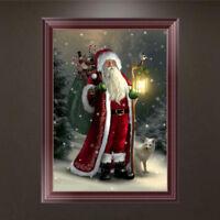 5D Diamond Painting Santa Claus Embroidery DIY Art Cross Stitch Xmas Home Decor