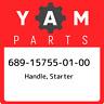 689-15755-01-00 Yamaha Handle, starter 689157550100, New Genuine OEM Part