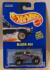 Blazer 4x4 Hot Wheels 1991 Blue Card #258 CTS