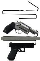 Gun Safety Storage Solutions Pack of 2  Shelf Handgun Pistol Hangers Over Under