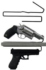Gun Safety Storage Solutions Pack of 2 Shelf Handgun Pistol Hangers Over Under
