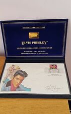 Elvis Presley limited edition autographed presentation first day cover.