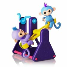 WowWee Fingerlings Playset~ See-Saw with 2 Fingerlings Baby Monkey~ Willy Milly
