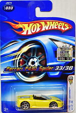 Hot Wheels 2006 Premier Éditions Ferrari F430 Spider #033 Jaune