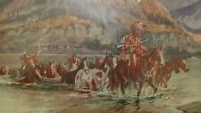 VTG Charles Russell Renegades Return Print Native Union 76 Gas Tribe Crossing