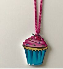 Large Cupcake Laser Necklace