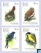 Sri Lanka Stamps 2017, Endemic Birds, Owl, MNH
