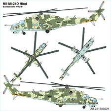 Arsenal-M HO scale MIL MI-24D Hind attack helicopter of German Bundeswehr WTD-61