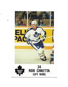 1991-92 Maple Leafs PLAY #5 Rob Cimetta Toronto Maple Leafs
