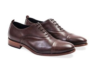 All leather.Smooth Calf Oxford Mens 100% Leather Shoes. Espresso Colour