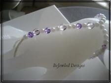 Slave Bracelets ~ Handcrafted~ Purple with Pearls