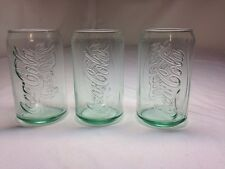 COCA COLA Glass Coke Can, 12 oz, SET OF Three, Vintage Tumbler,