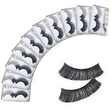 Soft 10 Pairs Long Makeup Thick False Eyelashes Eye Lashes Nautral Handmade