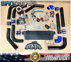 For Hd Civic B Series B16 B18 B20 T3t4 .63 Turbo Kit Manifold Intercooler Bov