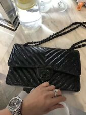 Chanel CF calfskin patent leather  bag