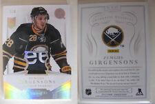 2013-14 Panini Dominion D-ZG Zemgus Girgensons 3/3 letters RC tag PATCH LATVIA