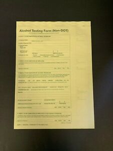 NON-DOT BREATH ALCOHOL TESTING (BAT) FORMS 3 PART 100 Per Pack  - B03