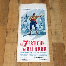 LE 7 FATICHE DI ALì BABà locandina poster Bella Cortez Rod Flash Meniconi K50