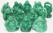Set of 12 Feng Shui Green Happy Face Laughing Buddha Figurine Prosperity Gift