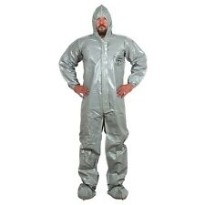 TYCHEM CPF2 GRAY COVERALLS HAZMAT PROTECTIVE SUIT DUPONT 2XL