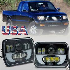 7x6 Cree Led Headlight Hi Lo Beam Drl Halo For Toyota Tacoma Pickup Mr2 Celica Fits 1996