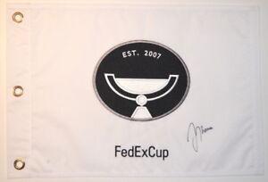 JUSTIN THOMAS Signed PGA Logo FEDEX CUP Embroidered GOLF FLAG