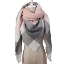 Women Winter Warm Shawl Scarf Ladies Tartan Check Neck Wrap Plaid Pashmina St JB