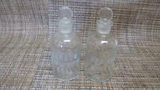 Pair of Vintage Wheaton Glass Pharmacy Bottles with Ground Glass Stoppers