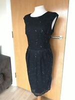 Ladies Dress Size 14 RM Richards Black Lace Wiggle Party Evening Wedding