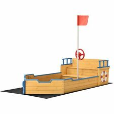 Sandkasten Piratenschiff - Boot Schiff aus Holz groß Sandbox Sandkiste Juskys®