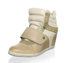 9895acccf9a5 Koolaburra Charlie Women s Wedge Fashion Sneaker in Nude Size ...