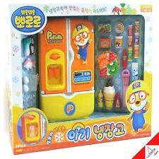 Pororo Baby Refrigerator Role Play Set Kids Toy Fridge Freezer Food TV Character
