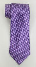 NWT Ermenegildo Zegna Disegno Esclusivo Satin Purple Paisley Print Tie $205
