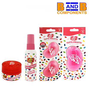 Jelly Belly Tutti Fruitti Duo Vent, 3D, Spray & Can Car Air Freshener Set A1716