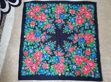scarf 80*80 cm. 1970-1980 years traditional handkerchief Ukrainian