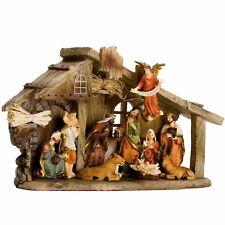 Brubaker Crèche de Noël Complète avec 11 Figurines en Résine peintes À la Main