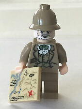 *NEW* Lego Minifig Indiana Jones PROFESSOR HENRY JONES  with MAP