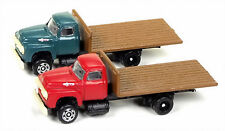 Classic Metal Works N 50365 1954 Ford Bed Truck Set, Vermillion and Meadow Green