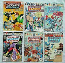 Justice League of America Lot of 6, DC Comics #30 128-132 Silver Bronze Ungraded